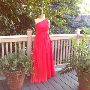 One shoulder cocktail gown